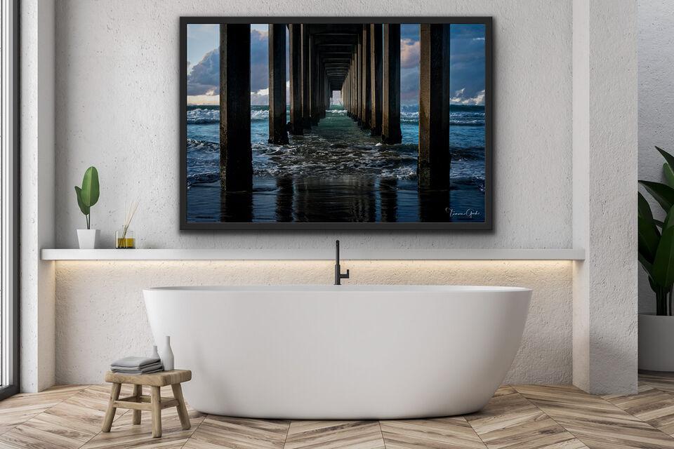 acrylic, print, art, framed, aluminum, metal, wall, decor, home, interior, design, bathroom, tub, photo, photography, fine, art, limited, edition, Tamara Gooch