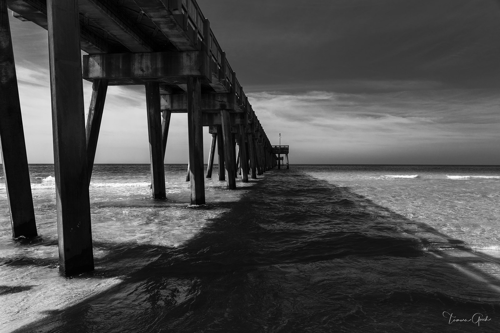 Limited Edition Print of 50 This black and white image of the Destin Pier in Florida has quickly become a favorite pier photo...