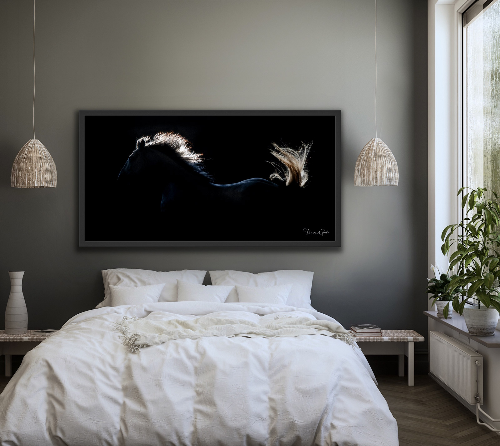 Lusitano, horse, PSL, equine, equestrian, photograph, photo, print, art, wall, interior, design, framed, bedroom, pano, backlight, luxury, fine art, limited, edition, photo