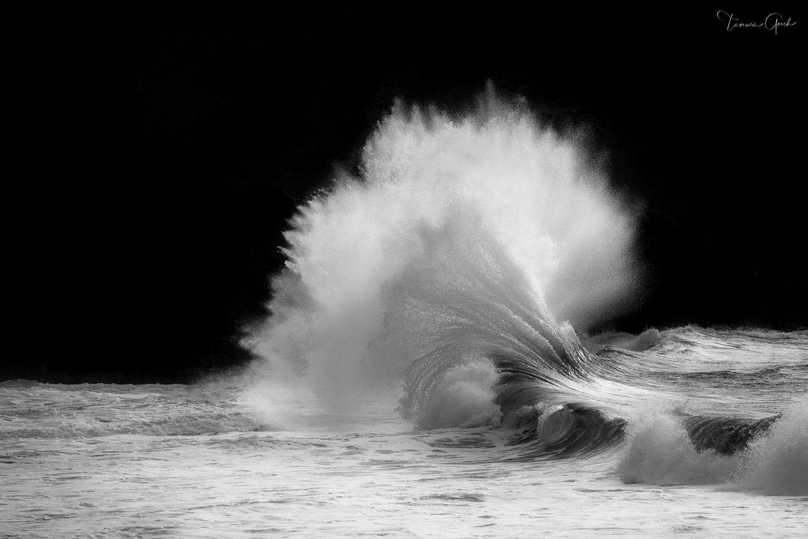 Collectors Limited Edition of 50 Crashing Wave, a fine art museum quality nature print in black and white. Bring the power of...